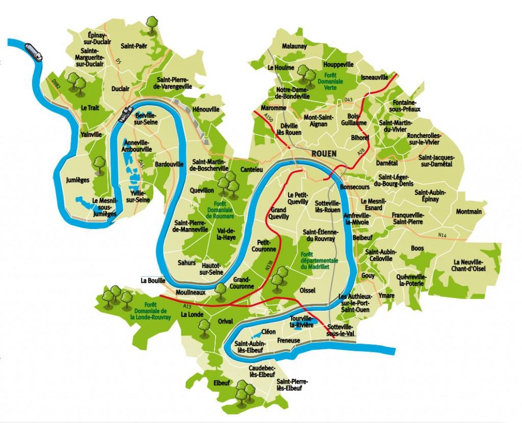 Carte Métropole Rouen